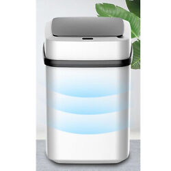 12L Intelligent Induction Trash Can Smart Motion Sensor Automatic Kitchen $21.07