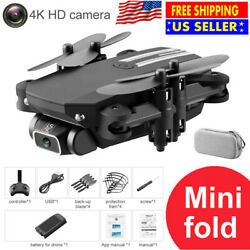 Best RC Mini Foldable Drone with Live WIFI FPV 4K HD Camera Selfie Optical Flow $38.05