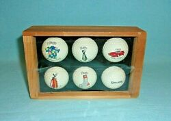Unique Impressions Set Of 6 Father#x27;s Day Golf Balls Spalding Original Box...NEW $24.99