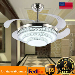 42 Inch Crystal Ceiling Fan Light Chandelier Fixtures WITH Remote Control Lamp $148.00