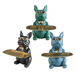 Creative Dog Storage Tray Collectible Figurines Craft Jewelry Rack Coin Box $45.32