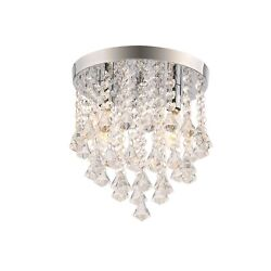12 Inch Pendent Ceiling Lamp with Crystal Ball Fixtures 3 Light Chandelier $50.00