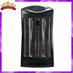 RADIANT HEATER Electronic Quartz Tower Electronic Thermostat Black COMFORT ZONE $45.88