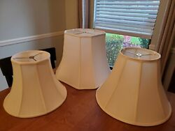 Lamp Shades lot of 3 medium large used shades $14.95