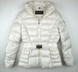 Guess Down Puffer Jacket Womens Size Small With Belt And Detachable Hood $42.95
