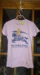 BURBERRY LONDON ESTABLISHED 1856 LARGE PURPLE LAVENDER MADE IN BANGLADESH NWT $40.00
