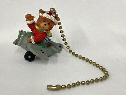 Christmas Holiday Bear in Airplane Ceiling Fan Pull Chain Light Pull $12.00