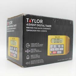 Taylor 4 Event Digital Timer 5839N Stand or Wall Mount Commercial Kitchen Timer
