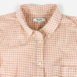 Madewell Womens Size Small Check Button Front Shirt Cotton Spandex Blend $17.99