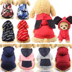 Hooded Pullover Pocket Warm Sweatshirt for Small Dog Cat Puppy Clothes $4.99