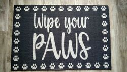 Wipe Your Paws Door Welcome Mat Dog Pet Food Indoor Outdoor CUTE SHIPS FREE $14.99