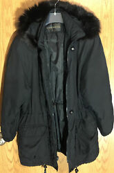 Forecaster Of Boston Winter Coat Black Fur Lined Removable Hood Size Small $19.99