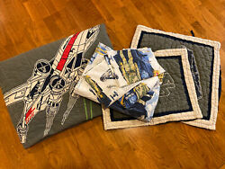 Pottery Barn Kids Star Wars Full Queen Quilt W Shams Full Sheet Set Great Cond. $180.00