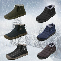 Men#x27;s New Winter Warm Outdoor Waterproof Hiking Ankle Snow Boots Shoes Size 6 13 $29.99
