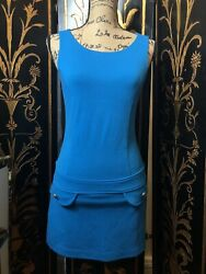 60s Style Retro Mod Mini Drop Waist Shift Dress Size Small Petite $20.00