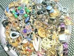 Unsearched Jewelry Vintage Modern Big Lot Junk Craft Box FULL POUNDS Pieces Part $29.99
