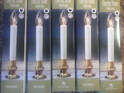 Set of 5 NEW 9quot; Electric Window Candle Lamp with Electric Timer Christmas $20.00