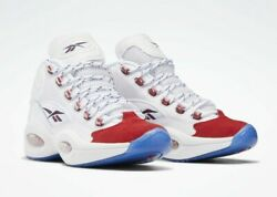NEW Reebok Question Mid Red Toe 25th Anniversary Iverson FY1018 Size 13 $218.99