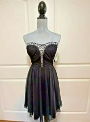 SPEECHLESS NWT Black Cocktail Holiday Dress Rhinestones MSRP $70 Size 11 $29.99