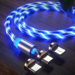 Magnetic LED Light Up USB Phone light up Charger Cord For iPhone Android Samsung $3.99