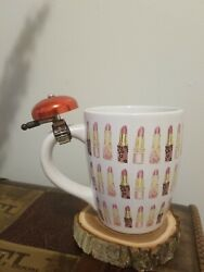 Fun Gift Novelty Extra Large Coffee Mug With Ringing Bell Lipstick Pattern C $19.99