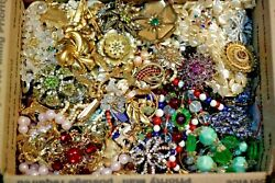 Jewelry Vintage Modern Huge Lot ALL GOOD Wearable RESELL Over One Full Pound Mix $35.09