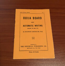 Rare Antique Vintage Ouija Booklet How to Use Board William Fuld Early 1920 $49.99