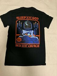 Steven Rhodes Sleep Is God Bed Is Church Black T shirts $19.00