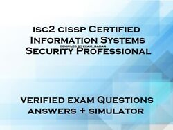 ISC2 CISSP verified practice exam questions answers and simulator $4.75