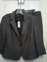 NWT Ann Taylor Black Skirt Suit Size 14P msrp $129.99 $38.99
