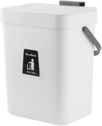 KaryHome Countertop Compost Bin with Lid Hanging Small Trash Can with Lid Under $24.99