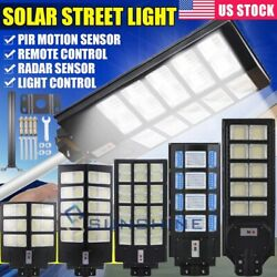 250W Outdoor Commercial Solar LED Street Light Dusk to Dawn PIR Sensor LampPole