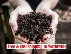COMPOST SOIL 100% Organic Fertilizer Worm Casting Soil Amendment 200g $4.99