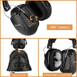 EAR MUFFS Noise Reduction Hearing Protection Headphones Headset Black By PROCASE $21.73