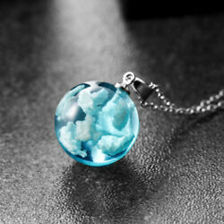 Women Transparent White Cloud Sky Ball Pendant Necklace Women Jewelry Gifts $2.98