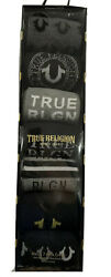 True Religion Crew Socks Mult 7 Pack Gift Box Mens Size 6 12 Socks Size 10 13 $29.99