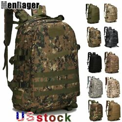 45L Military Tactical Bag Molle Backpack Outdoor Hiking Trekking Camping Bag US $19.68