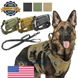 Tactical Dog Harness with Handle No pull Large Military Dog Vest US Working Dog $18.61