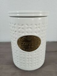 Brand New THL Classic Modern Shabby Chic COFFEE Canister Winter Home Decor $45.99