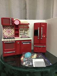 Our Generation Kitchen for 18quot; Doll Refrigerator Stove Sink American Girl $50.00