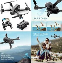 *NEW* Snaptain Sp510 2.7K Gps Foldable Drone With Camera For S Uhd Live Video $129.95