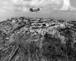 Supply Helicopter on Hilltop Fire Support Base 29 8x10 Vietnam War Photo 294 $5.77