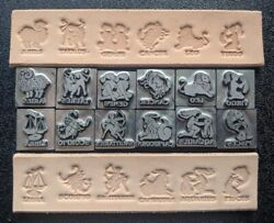 Leather Stamps Set of All 12 for Zodiac Astrology Horoscope Limited Edition $30.00