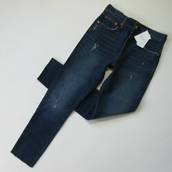 NWT Levi#x27;s 501 Skinny in Song For Forever Distressed Destroyed Stretch Jeans 28 $51.99