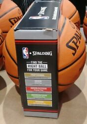 ORIGINAL Spalding Official Basketball The NBA Full Size 29.5quot; Silver Series Lot $35.99