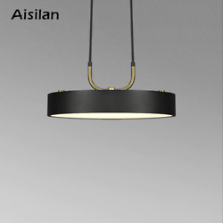 LED pendant light Nordic style Cylindrical Modern for dining room cafe bar lamp $174.68