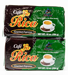2 CLR Cafe La Rica Miami Gourmet Espresso Coffee Grounds 10oz each 02 21 2021 $11.99