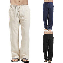 Mens Harem Pants Casual Cotton Linen Baggy Loose Oversized Yoga Hippy Trousers $17.28