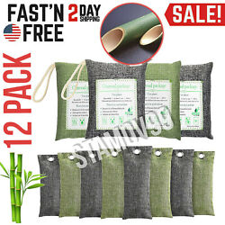 Air Purifying Bag Purifier Nature Fresh Charcoal Bamboo Mold Freshener 12 Bags $20.99