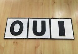 Bamp;W Distressed Metal Wall Letters French OUI Sign Plaque 10quot; tall $24.99